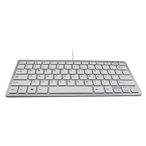 BBZZ Dispositivos de entrada de teclado multimedia, ultrafinos para evitar la conducción, 78 teclas, rápido y sensible, mini teclado para ordenador portátil de 12 x 29 cm