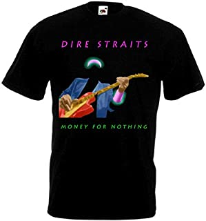 Dire Straits Money For Nothing T-Shirt Black Poster