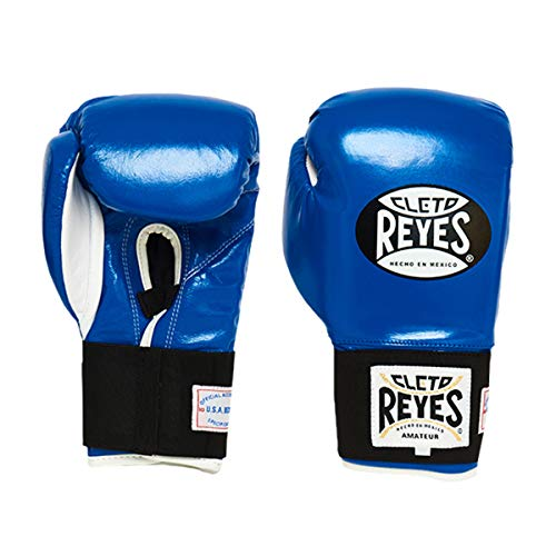 CLETO REYES Amateur Boxing Gloves (Now Approved by U.S.A. Boxing) (10 oz, Blue)