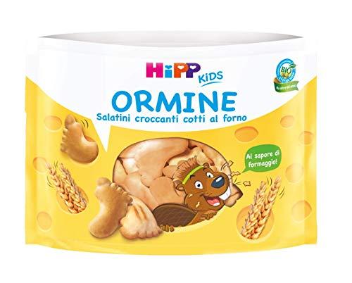 Hipp - Ormine, Croccanti Salatini Bio, Gusto Formaggio, Cotti Al Forno, 6 Confezioni da 28 G - 168 g