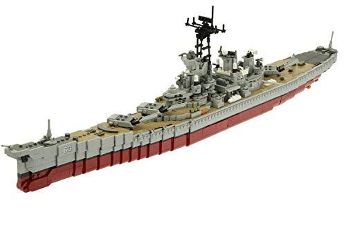 Steinchenshop - Schlachtschiff USS Missouri - besteht aus 2631 Klemmbausteine - toller Bausatz für Erwachsene - 3D Puzzle