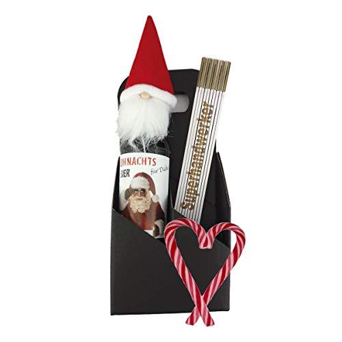 3-teiliges Geschenkset/Zollstock mit Gravur zum Auswählen/Weihnachts-Bier/Männergeschenk/Handwerker/Weihnachten, Zollstöcke:-Jens