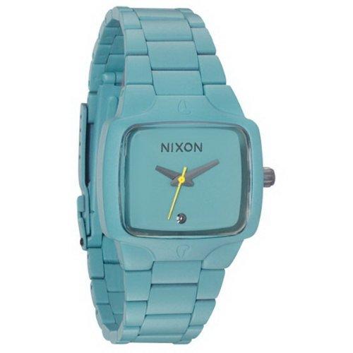 Nixon A300272-00 - Reloj analógico para Mujer de Acero Inoxidable Resistente al Agua Azul