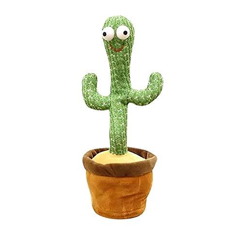 NEVRTP Tanzen Kaktus Plüschtier , Kaktus Dekoration Elektronische Tanzen Kaktus Kinder Singen und Tanzen Kaktus , Elektrisches Kuscheltier Spielzeug Geschenk für Kinder