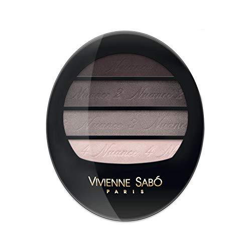Vivienne Sabo - Quartet Eyeshadow Quatre Nuances, Farbe:Braun, Typ:dark chocolate
