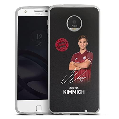 DeinDesign Silikon Hülle kompatibel mit Lenovo Moto Z Play Hülle transparent Handyhülle FC Bayern München Kimmich Offizielles Lizenzprodukt