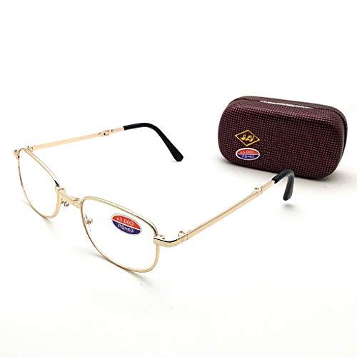 Leesbril voor mannen en vrouwen, opvouwbaar, met brillenkoker