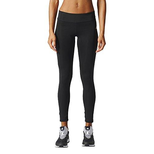 adidas Damen Kinesic Tight Laufbekleidung Laufhose Schwarz - Weiß L