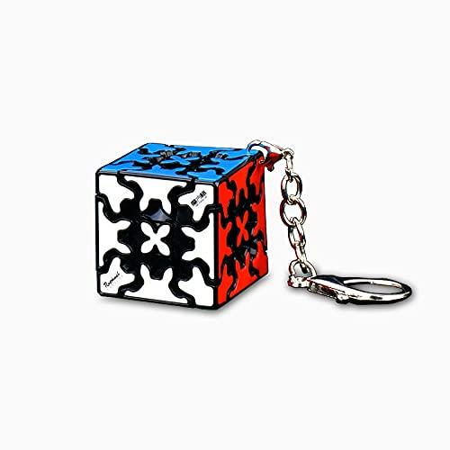 Oostifun FunnyGoo Llavero de Juguete con 30 mm Gear Magic Cube Puzzle Special 3D Turning Cube Negro