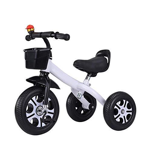 WLD Trainingsfiets Trike Kinderrijwielen Kinderfiets Kinderdriewieler Baby Kinderwagen 1-3-6 Jaar Oude Jongens en Meisjes Verjaardagscadeaus 5 Kleuren Opties 57X67X43Cm Kleur: wit
