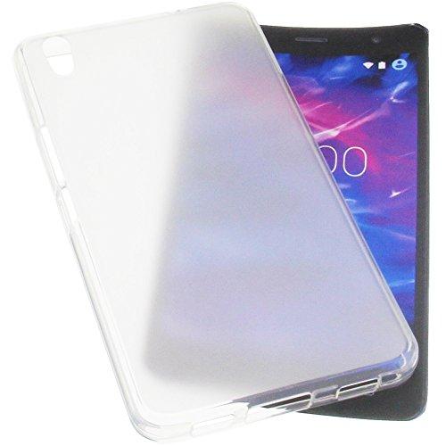 foto-kontor Tasche für MEDION Life S5504 Gummi TPU Schutz Handytasche transparent weiß