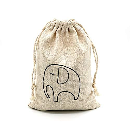 Geschenk-Beutel-Qualität Baumwolle Gedruckt Waschlappen Tasche, Schmuck-Geschenk-Beutel-Speicher-Beutel, Schmuck Zubehörtasche (Ten Pro Packung) Geschenk ( Color : I , Size : 15*20CM )