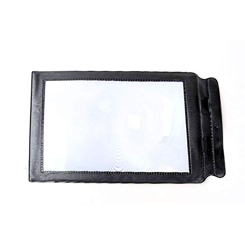 CKQ-KQ Handheld Black Border Soft Surface A4 Old Man Reading Portable ultradunne PVC Fresnel vliegtuig vol Pagina Glass 3 Times