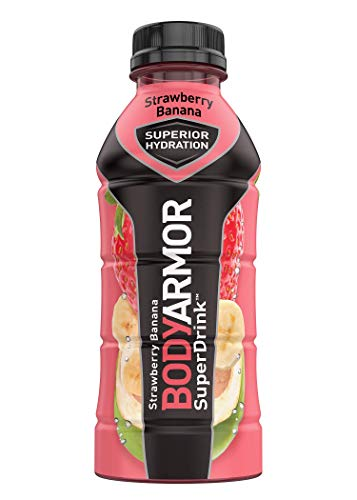 BODYARMOR Sports Drink Sports Beverage Strawberry Banana Natural Flavors With Vitamins PotassiumPacked Electrolytes No Preservatives Perfect For Athletes 16 Fl Oz Pack of 12