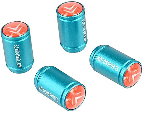 Coche Neumático Antipolvo Válvula Tapas Para Citroen Logo C2 C3 C4 C5 C6 C4l Ds3 Berlingo, Metal Antirrobo Antipolvo Resistente Agua Decoración Accesorio