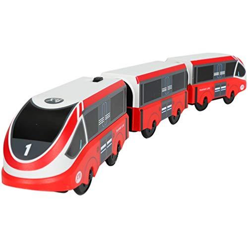 VICASKY Tren Eléctrico de Juguete para Niños Tren Falso Modelo Figurita Tren de Tráfico Juguete de Simulación de Juego Tren para Niños Niñas (Sin Batería)