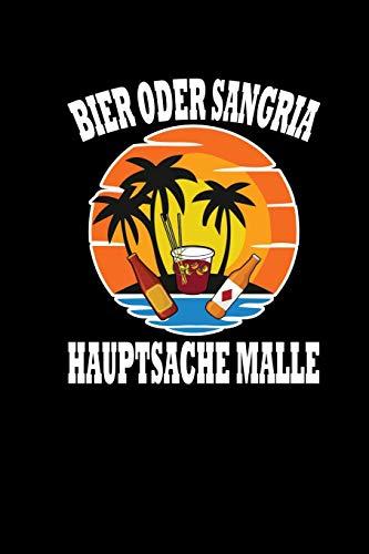Bier Oder Sangria Hauptsache Malle: Wochenplaner Lustiges Mallorca Party Motiv Notizbuch Notizheft Notizblock
