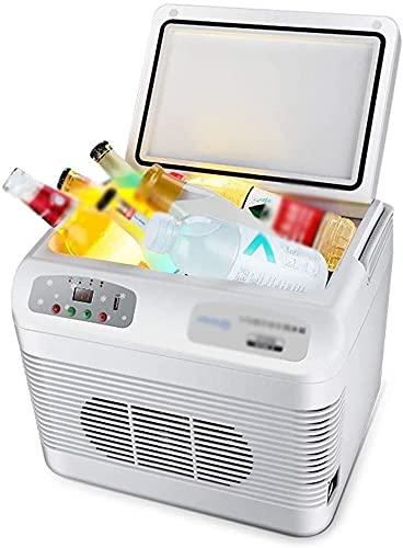 TANKKWEQ Frigorífico Portátil Refrigerador Compacto Cooler Tors Coche Tor Mini Frigorífico Refrigerador eléctrico Refrigerador de hielo y calentador 12L Mini refrigerador eléctrico portátil para autom