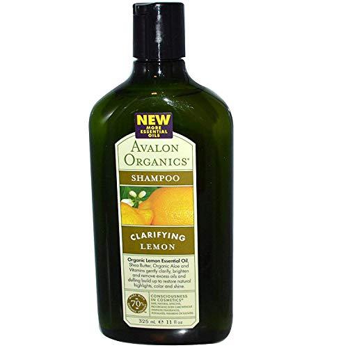 Pack de 4x Avalon Organics aclarar Champú limón con manteca de karité–11Fl Oz