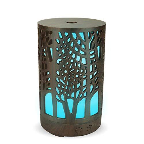 GKJRKGVF 7 kleuren LED-nachtlampje met luchtbevochtiger 100 ml luchtreiniger met aroma-diffuser etherische olie lege cilinder voor doe-het-zelvers