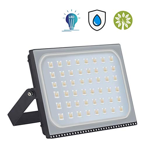 Nuitab LED Floodlight 300W, Outdoor Security Light, Super Bright 24000 LM, IP65 Waterproof for Garden Car Park Garage Construction Site Forecourt, Warm White-300w