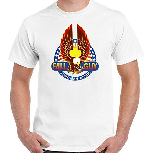 The Fall Guy T-Shirt Mens Retro 80'S Tv Show Program Stuntman Airwolf A-Team Top Whitel