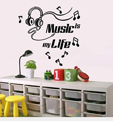 JHLP Wandaufkleber Klassenzimmer Musik Symbol Wandaufkleber Klavier Dekoratives Musikinstrument Klavier Hintergrundbild Aufkleber Aufkleber 55x44cm