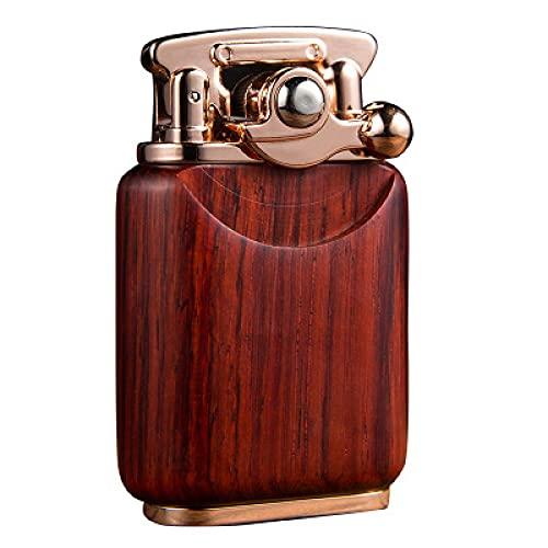 Encendedor de gas, encendedor de chorro, de madera, retro, de queroseno, de queroseno, de gasolina, de la colección del encendedor Gadget para el hombre encendedor recargable ArmyGreen
