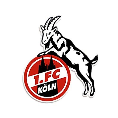 1. FC Köln Aufkleber Geißbock 8 cm - Plus gratis Aufkleber Forever Köln