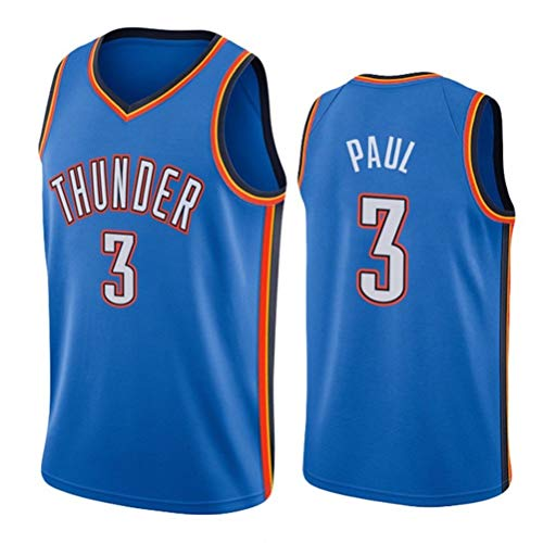 Basketball Jersey, CP3, Queen Bee Chris Paul (Chris Paul) # 3 Oklahoma City Thunder, Point Guard Breathable Sports Klassische Stickerei Retro Fitness-Weste, Basketball-Trikot ( Color : C , Size : XS )