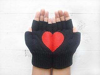 Valentine's Day Gloves, Fingerless Gloves, Heart Gloves, Heart Gift