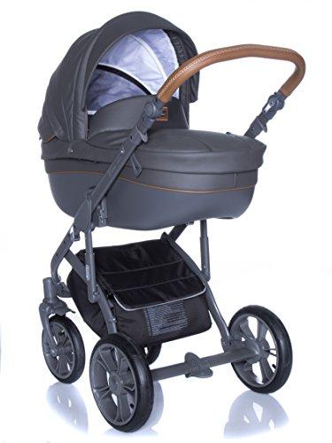 Kombi Kinderwagen Travel System ROAN BASS SOFT SHADOW-GREY 3in1 Buggy Sportwagen Babyschale Autositz KITE 0-13kg