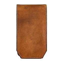 Goatter Brown Leather 5.5 Inch Mobile Cover With Card Wallet