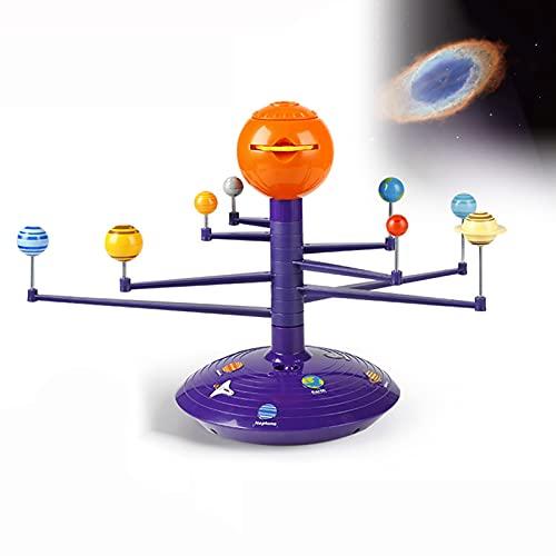 LJBOZ Modelo del Sistema Solar, Modelo De Planetario del Sistema Solar, DIY Sistema Solar Modelo para Niños con Función De Proyección, Modelo De Sol Y Otros 8 Planetas Juguetes Educativos