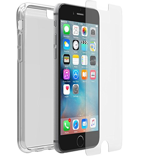 Otterbox Pack Clearly Protected Skin - Pack con Funda de protección Fina y Flexible + Protector de Pantalla de Cristal Templado Alpha Glass para Apple iPhone 6/6s