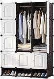 Rocker Garderobe Aufbewahrungslagerung Tuch Aufbewahrungsbox Griff Design Raum Kunststoff Montage Design Aufhänger Rack (Color : 12 Doors)