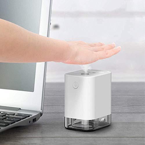 Automático lleno de manos con alcohol de limpieza Desinfección pulverizador para Office Home School, infrarrojo inalámbrico inteligente inducción Nano atomización esterilización de la máquina, blanca