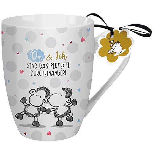 Sheepworld 59607 Lieblingstasse Du und ich sind das perfekte Durcheinander, Porzellan, 30 cl Tasse