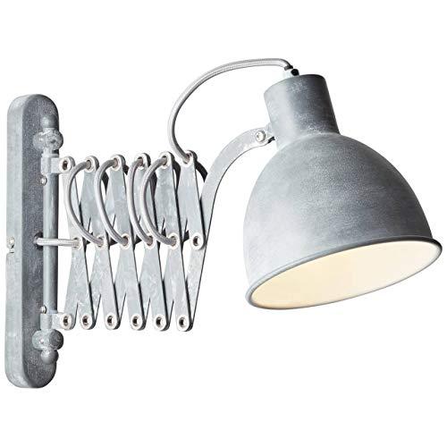 BRILLIANT lamp Sandra 2 wandlamp grijs beton |1x D45, E14, 40W, geschikt voor vallampen (niet inbegrepen) |Schaal A ++ tot E |Draaibare kop