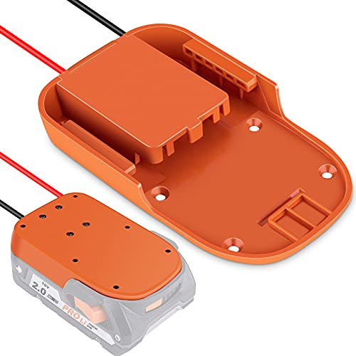 Power Wheels Battery Adapter for Ridgid AEG 18V, Dock Power Connector Battery Converter with 12 Gauge Wire, Ideal for RC Toys, e-Bike and Robotics