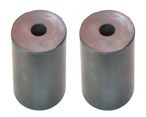 2 x Gummipuffer 63x63mm für DDR Anhänger HP300 HP350 HP400 - Gummifeder