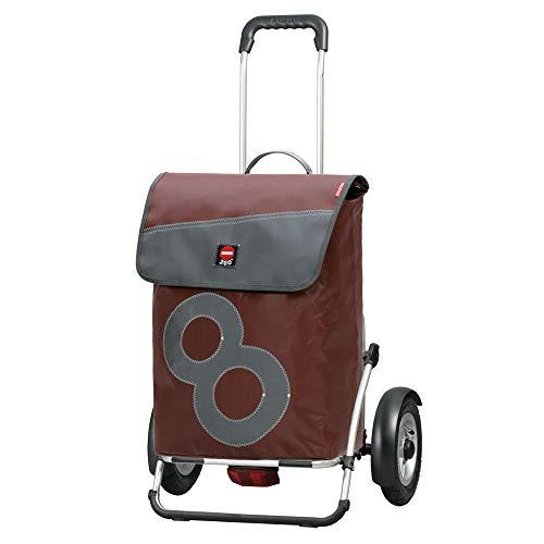 Andersen, Carro de compra Royal Plus 360° Boje 8, ruedas neumaticás, volumen 55L, 3 años de garantía, Made in Germany