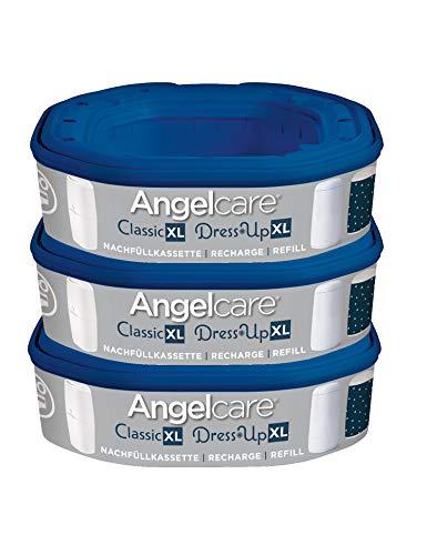 Angelcare Nachfüllkassette für Windeleimer Dress-Up und Classic XL, Größe:3 Stück