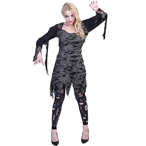 EraSpooky Zombie Untote Damenkostüm Fetzenkleid Damen Kostüm Kleid