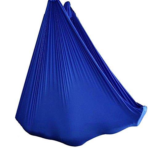 Wellsem 5M Yoga Silk Anti-Gravity Yoga Amaca per Pilates Altalena Attrezzatura per Danza Aerea Aerial Silks Yoga Swing Solo Il Tessuto (Non Gli Altri Accessori) Profondo Blu