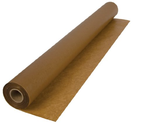 QEP 70-120 3 x 250-Feet 30-Pound Waxed Paper Wood Floor Installation in 750 Square Feet Roll Underlayment Sheet, Brown