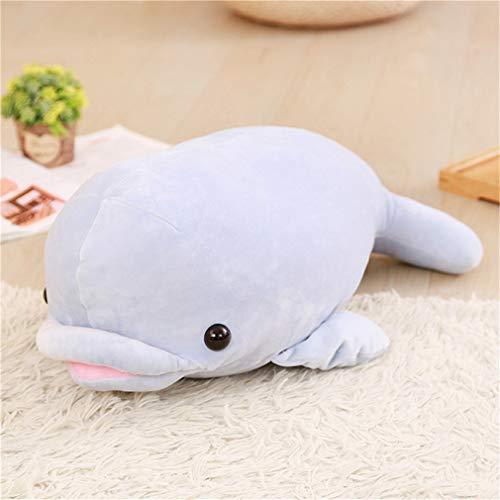 Nunubee Animal Marino Plumón De Algodón Molusco Delfín Muñeco De Peluche Acuario Día del Niño Muñeco De Trapo Azul 55Cm
