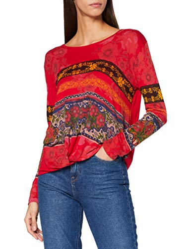 Desigual TS_YESS T-Shirt, Rosso, XS Donna