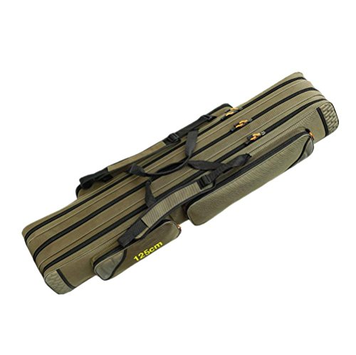 TentHome 3 Layers Waterproof Fishing Bag Portable Rod Carrier Reel Case...