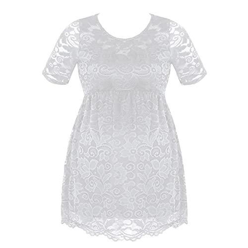 TiaoBug Vestido de Lactancia para Mujer Embarazada Ropa Camisón de Gasa Encaje...